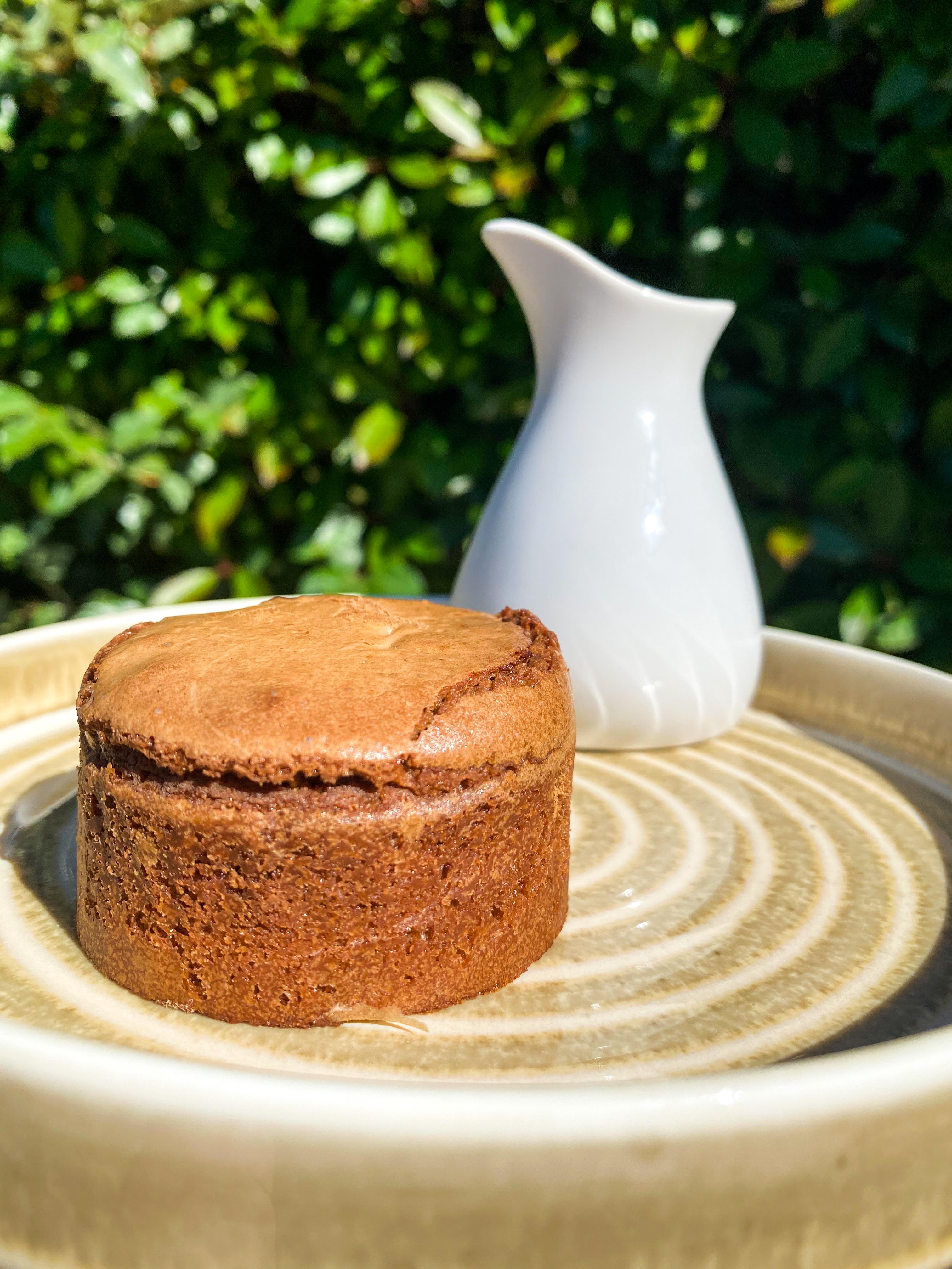Moelleux au chocolat, crème anglaise maison